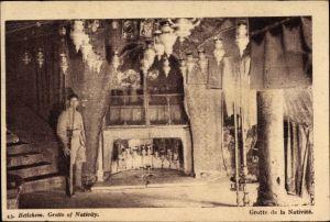 Ak Betlehem Palästina, Grotto of Nativity, Geburtsgrotte
