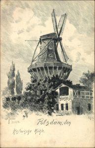 Künstler Ak Jander, Carl, Potsdam in Brandenburg, Historische Mühle