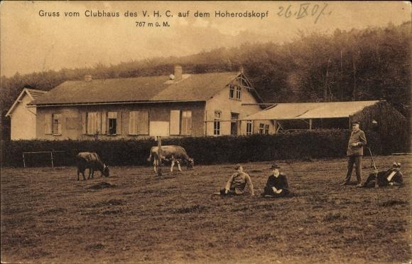 Ak Breungeshain Schotten im Vogelsbergkreis Hessen, Blick auf Clubhaus des V.H.C., Hoherodskopf