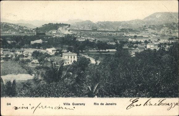 Ak Rio de Janeiro Brasilien, Villa Guarany, Totalansicht vom Ort