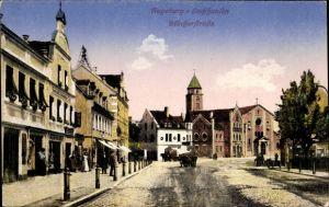 Ak Lechhausen Augsburg in Schwaben, Blick in die Blücher Straße