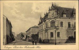 Ak Erlangen in Mittelfranken Bayern, Partie beim Bubenreuther Haus