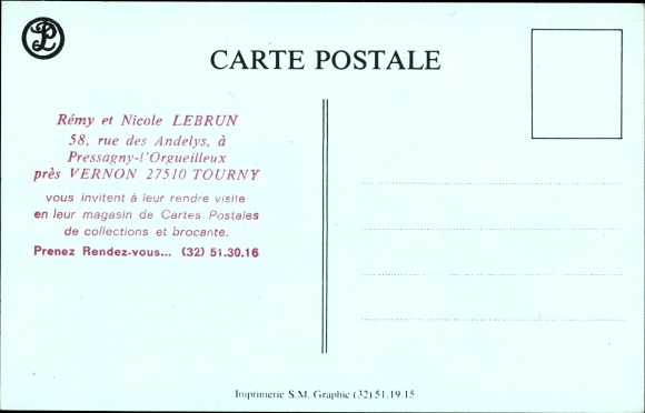 Kunstler Ak Pressagny LOrgueilleux Eure Dichter Casimir Delavigne Chateau De La Madeleine