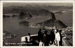 Foto Ak Rio de Janeiro Brasilien, Vista do Corcovado, Aussichtspunkt über der Stadt