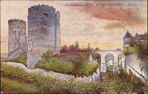 Künstler Ak Cinq-Mars-la-Pile Indre-et-Loire, Chateau de Cinq Mars, Türme