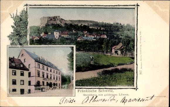 Ak Streitberg Wiesenttal Fränkische Schweiz, Gesamtansicht, Gasthaus zum goldenen Löwen