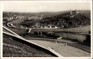 Ak Eichstätt in Oberbayern, Blick auf Stadt und Willibaldsburg von der neuen Straße aus