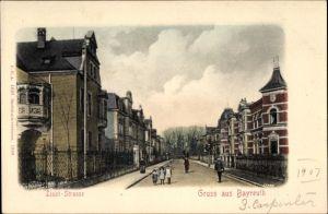Ak Bayreuth in Oberfranken, Blick in die Liszt Strasse