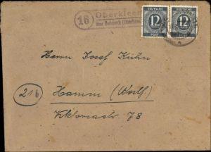 Briefumschlag Landpoststempel Oberkleen über Butzbach Oberhessen