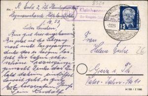 Ak Landpoststempel Kleinhennersdorf über Königstein Sächs. Schweiz