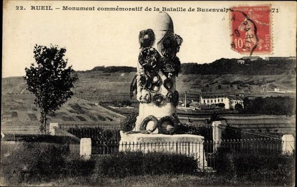 Ak Rueil Hauts de Seine, Monument commemoratif de la Bataille de Buzenval