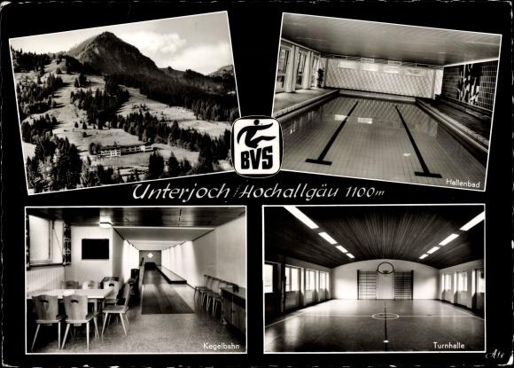 ak ansichtskarte unterjoch bayrisches versehrten sportheim allgaeuer alpen kat bad hindelang. Black Bedroom Furniture Sets. Home Design Ideas