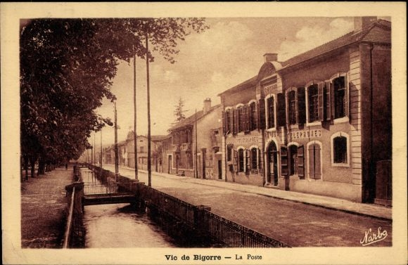 Ak Bigorre Hautes Pyrénées, La Poste, Postamt