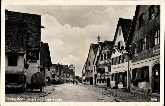 Ak Dinkelsbühl im Kreis Ansbach Mittelfranken, Untere Nördlinger Straße, Bäckerei Johann Laun