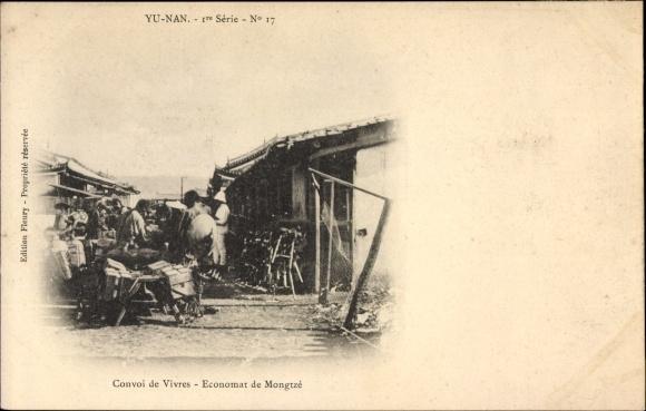 Ak Yunnan China, Convoi de Vivres, Economat de Mongtzé