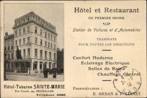 Ak Bruxelles Brüssel, Hôtel Taverne Sainte Marie, Rue Royale 344