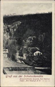 Ak Gauernitz Klipphausen, Blick zur Schiebocksmühle, Talpartie