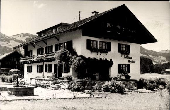 Ak Fischen im Allgäu in Schwaben, Pension Alpenhof, Besitzer Hans Älthaus