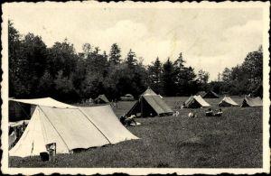 Ak Ave et Auffe Wallonien Namur Belgien, Camp de Roptai