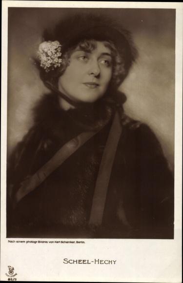 Ak Schauspielerin und Sängerin Alice Scheel Hechy, Portrait, RPH 88 3
