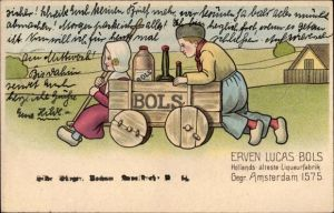 Ak Bols Reklame, Hollands älteste Likörfabrik, Gegr. Amsterdan 1575, Reklame
