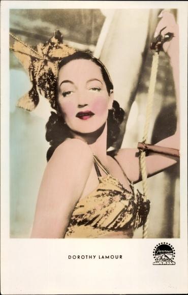 Ak Schauspielerin Dorothy Lamour, Portrait, Paramount Pictures