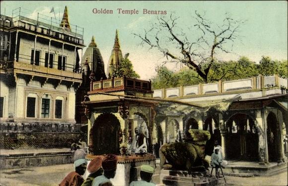 Ak Varanasi Benares Indien, Golden Temple, Partie am Kashi Vishwanath Tempel, auch Goldener Tempel