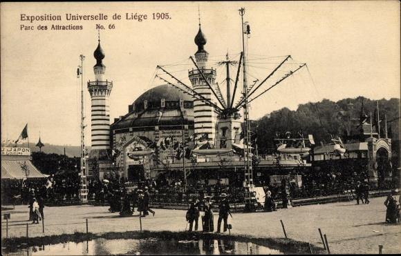 Ak Liège Lüttich Wallonien, Exposition Universelle 1905, Parc des Attractions, Vergnügungspark