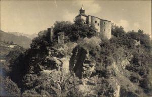 Foto Ak Meran Merano Südtirol, Ansicht der Zenoburg
