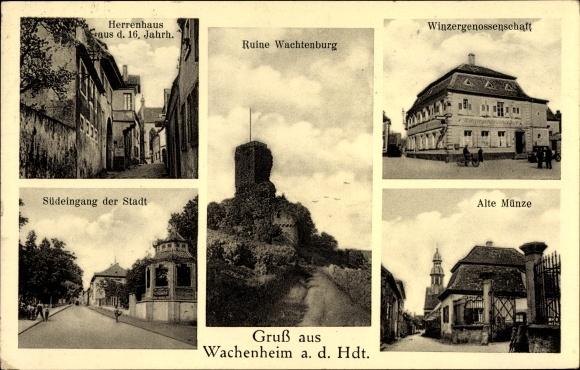Ak Wachenheim Im Kreis Bad Dürkheim Südeingang Der Stadt Alte