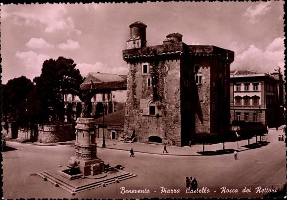 Ak Benevento Campania, Piazza Castello, Rocca dei Rettori