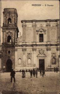 Ak Brindisi Puglia, Il Duomo, Blick auf den Dom, Portal