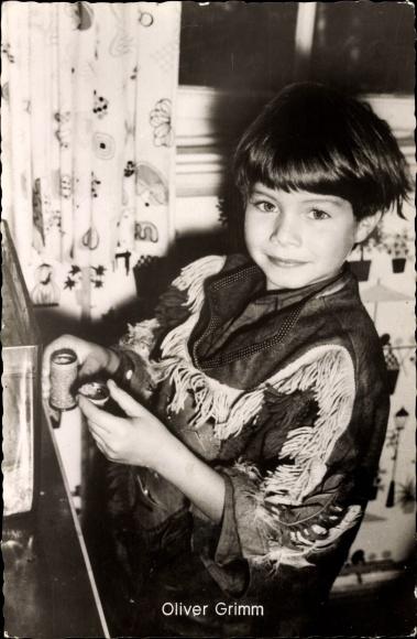 Ak Schauspieler Oliver Grimm, Portrait als Kind, Moselfahrt aus Liebeskummer