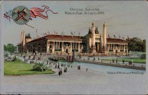 Litho St Louis Missouri USA, World's Fair 1904, Palace of Mines and Metallurgy