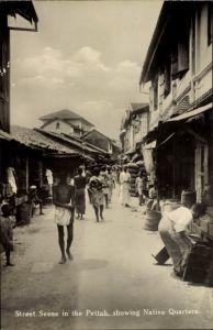 Ak Colombo Ceylon Sri Lanka, Street scene in the Pettah, showing native quarters