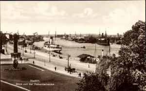 Ak Szczecin Stettin Pommern, Blick von der Hakenterrasse