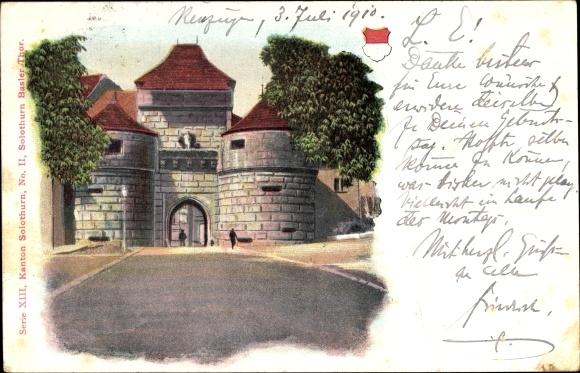 Ak Kanton Solothurn, Partie am Baseler Tor, Wappen