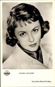 Ak Schauspielerin Hanna Rucker, Portrait, Weil Du arm bist musst Du früher sterben