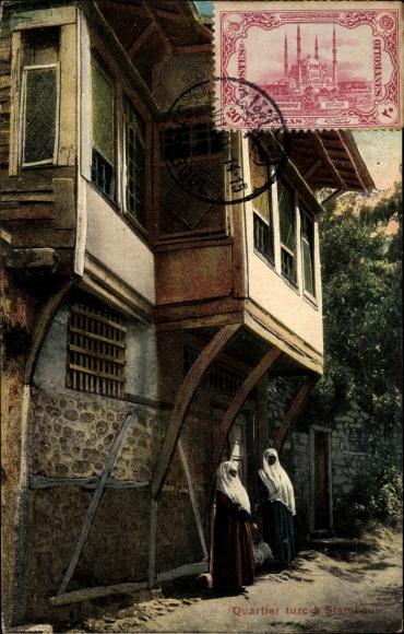 Ak Konstantinopel Istanbul Türkei, Quartier turc a Stamboul, Straßenansicht, Wohnhaus