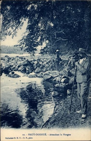 Ak Haut Ogooué Gabun, Attendant la Pirogue, Flusspartie