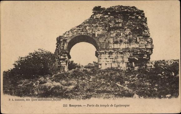 Ak Smyrna Izmir Türkei, Porte du temple de Lysimaque