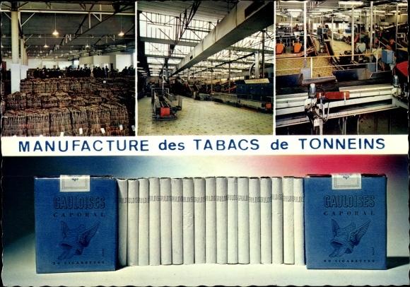 Ak Tonneins Lot et Garonne, Manufacture des Tabacs, Fabrication de la Gauloise, Zigarettenfabrik