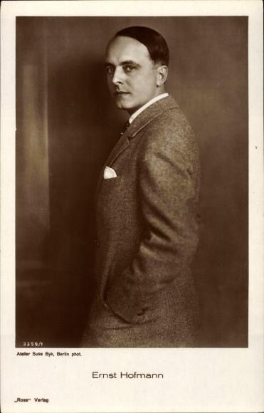 Ak Schauspieler Ernst Hofmann, Portrait im Profil, Anzug, Ross Verlag Nr 3359 1