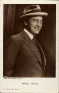 Ak Schauspieler Harry Liedtke, Portrait im Anzug mit Hut, Ross Verlag 1280 3