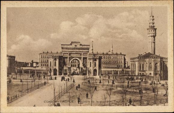 Ak Konstantinopel Istanbul Türkei, Ministere de la guerre et Tour du Seraskerat
