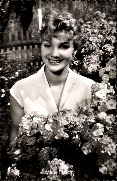 Ak Schauspielerin Maria Perschy, Portrait, Der Held meiner Träume