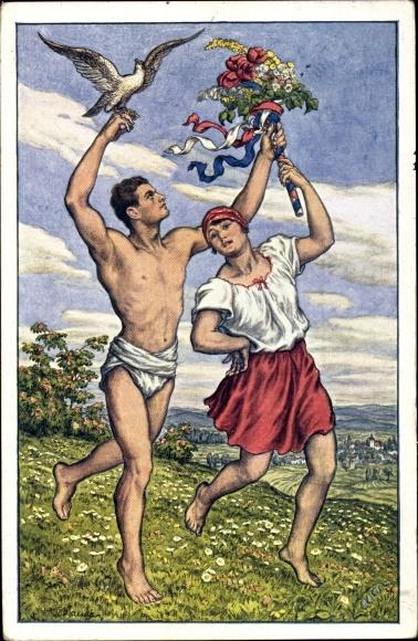 Künstler Ak Praha Prag, VIII. Slet Vsesokolsky 1926, Turner