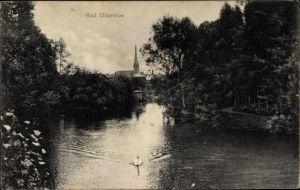 Ak Bad Oldesloe in Schleswig Holstein, Partie an der Trave, Kirche
