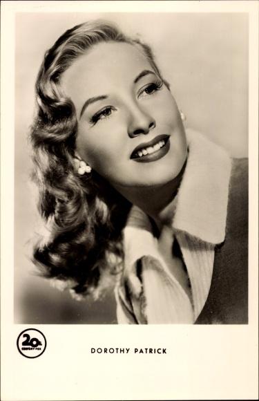 Ak Schauspielerin Dorothy Patrick, Portrait, 20th Century Fox