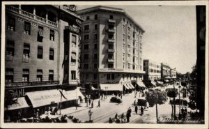 Ak Cairo Kairo Ägypten, Boulevard Fouad I, Straßenpartie, Geschäfte